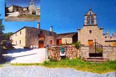 Pintura de una iglesia de Lugo