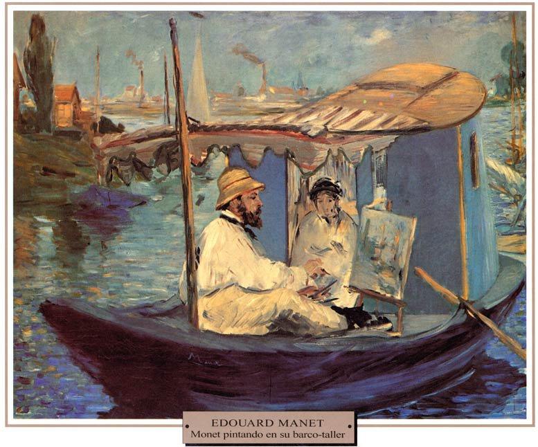 Manet-Monet-pintando-en-su-