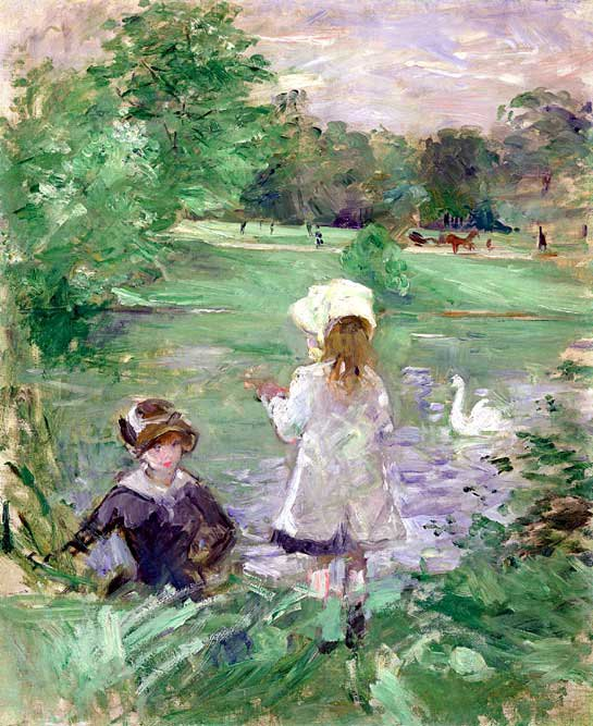 Berthe-Morisot-On-Lakeside-