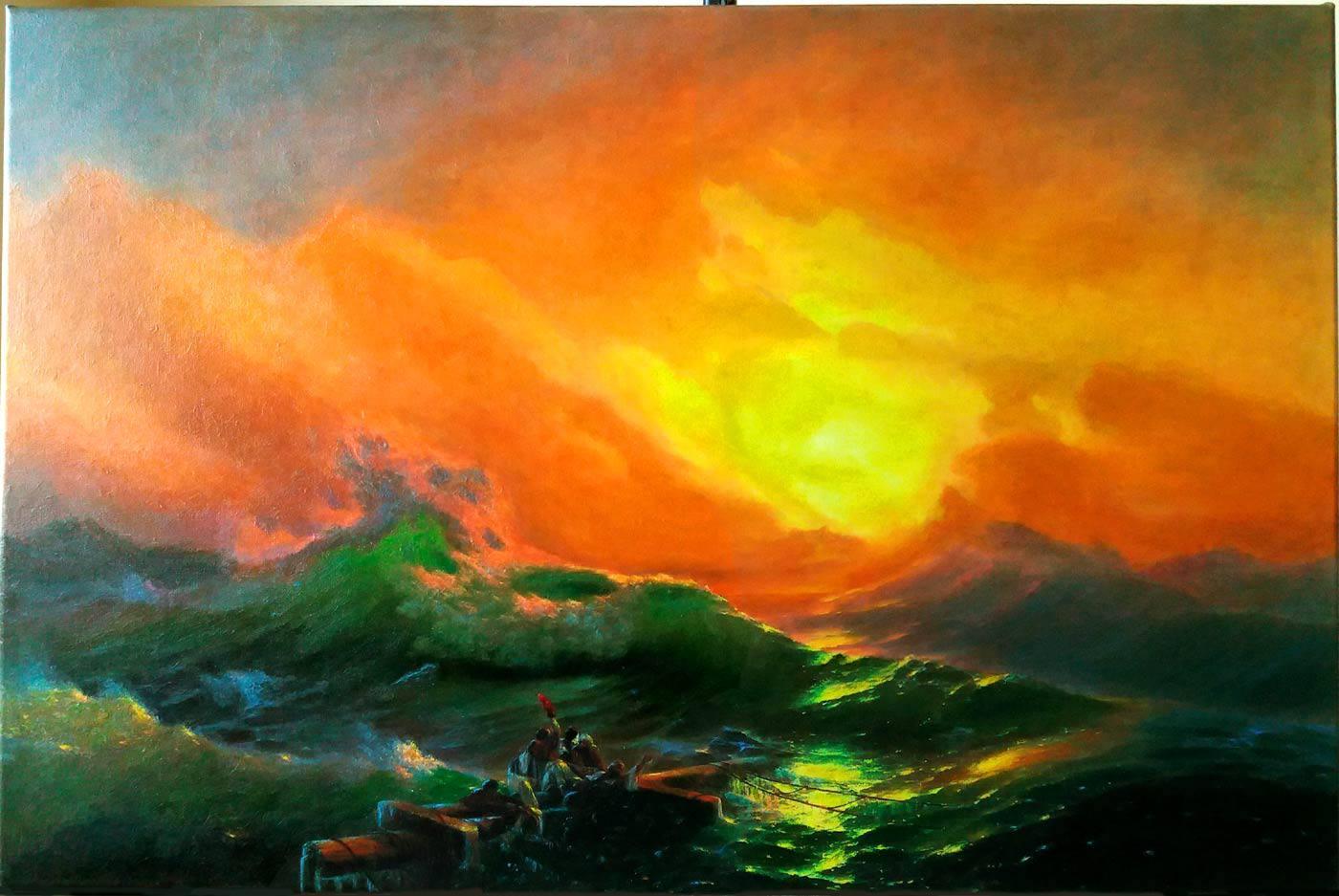 La novena ola de Ivan Aivazovsky
