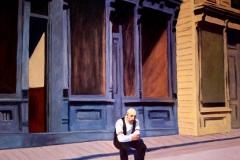 Copia del pintor americano Eduard Hopper