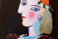 Reproduccion de arte de un retrato de Pablo Picasso