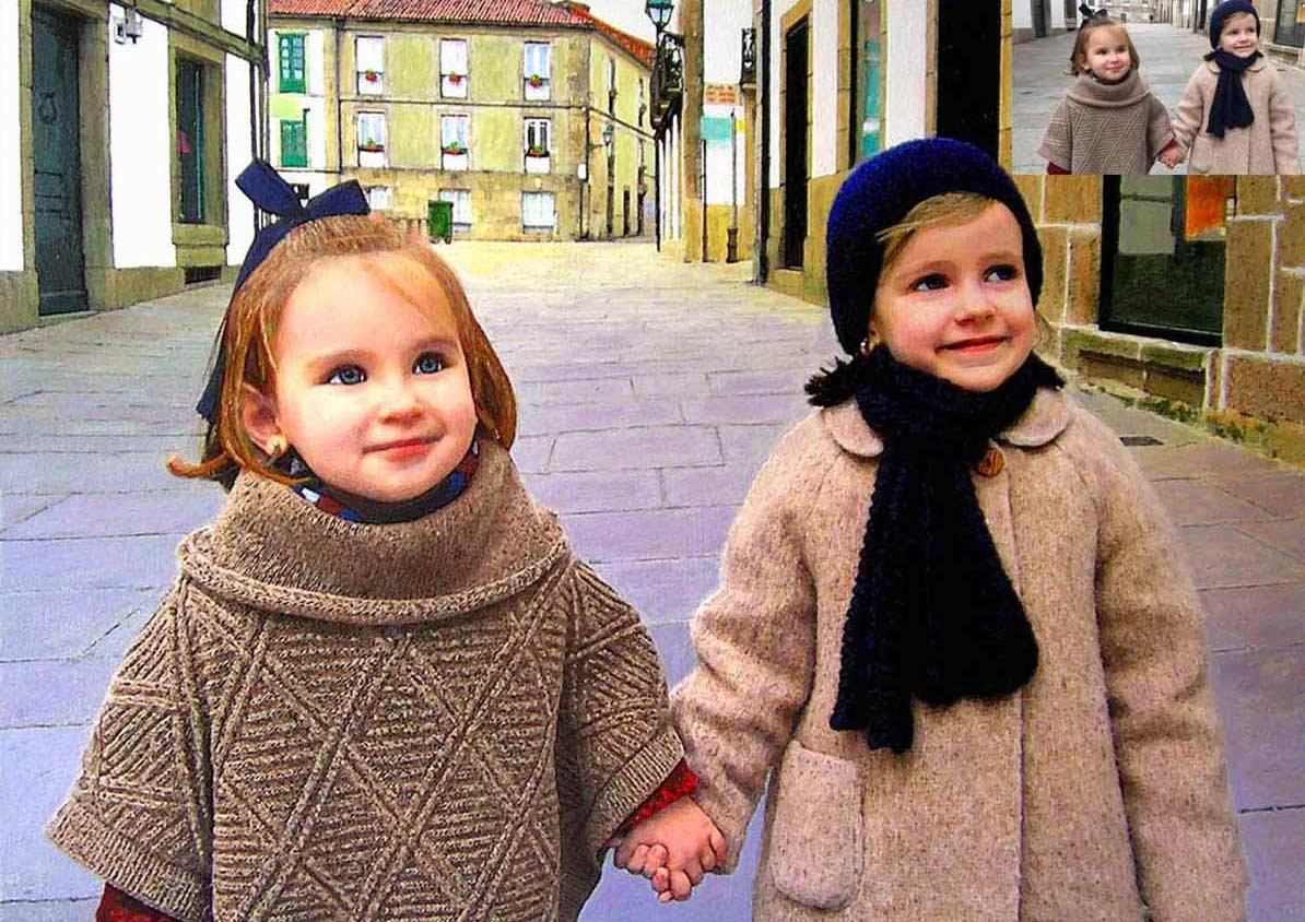 retratos por encargo niñas de Galicia